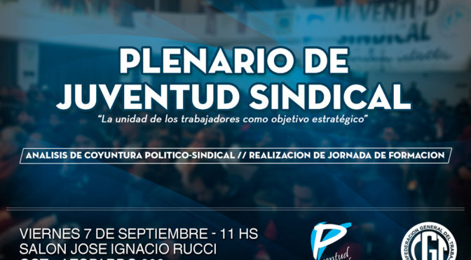 Plenario de la Juventud Sindical
